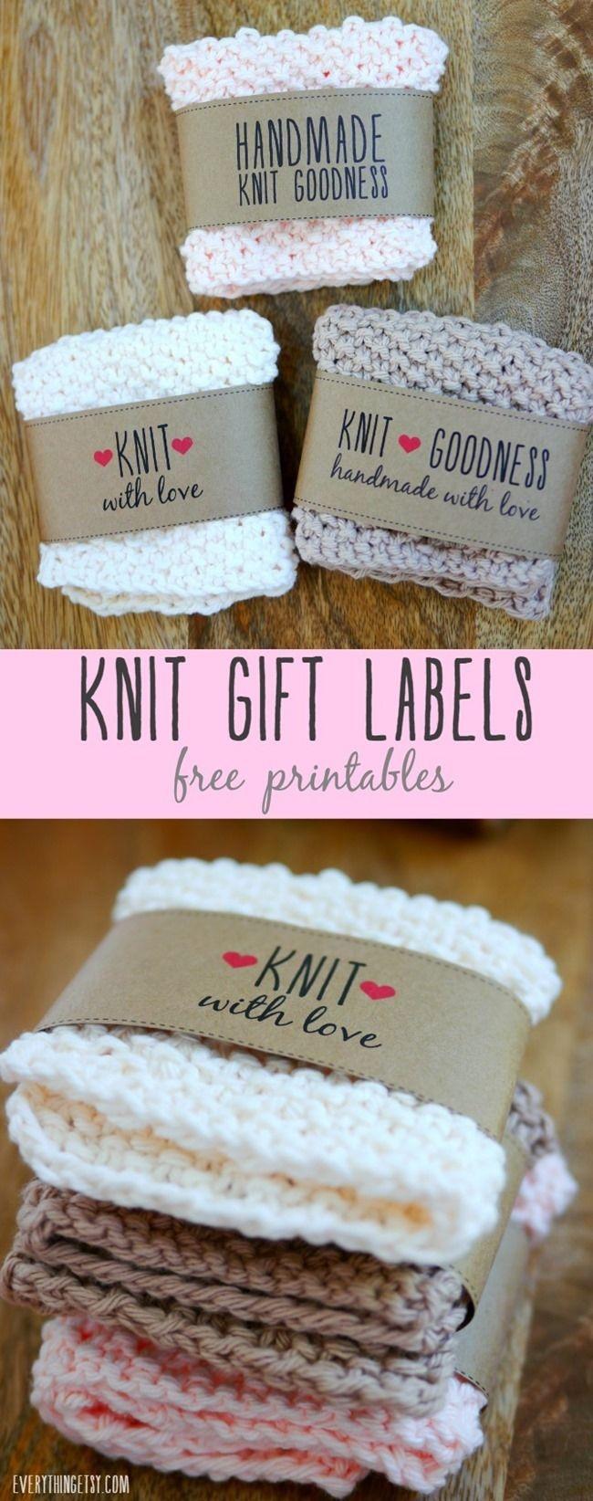 Free Printable Knit Gift Labels   Knitz   Knit Crochet, Crochet - Free Printable Knitting Labels
