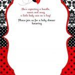 Free Printable Ladybug Baby Shower Invitations Templates | Party   Free Printable Ladybug Invitations