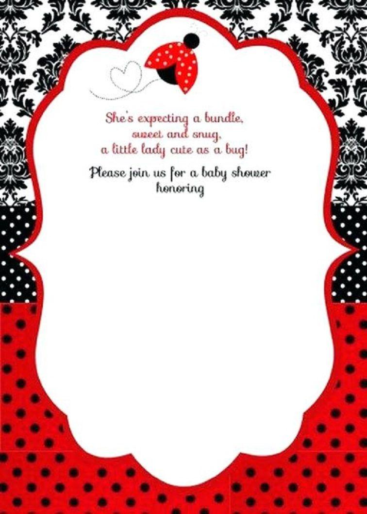 Free Printable Ladybug Baby Shower Invitations Templates   Pegs In - Free Printable Ladybug Baby Shower Invitations Templates