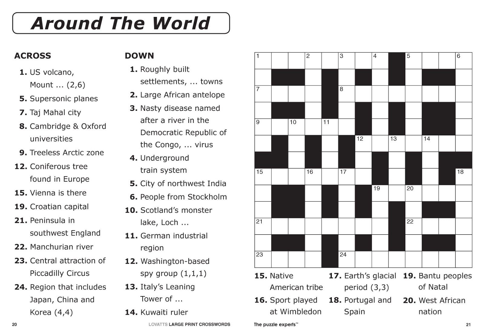 Free Printable Large Print Crossword Puzzles   M3U8 - Free Printable Crossword Puzzles For Adults