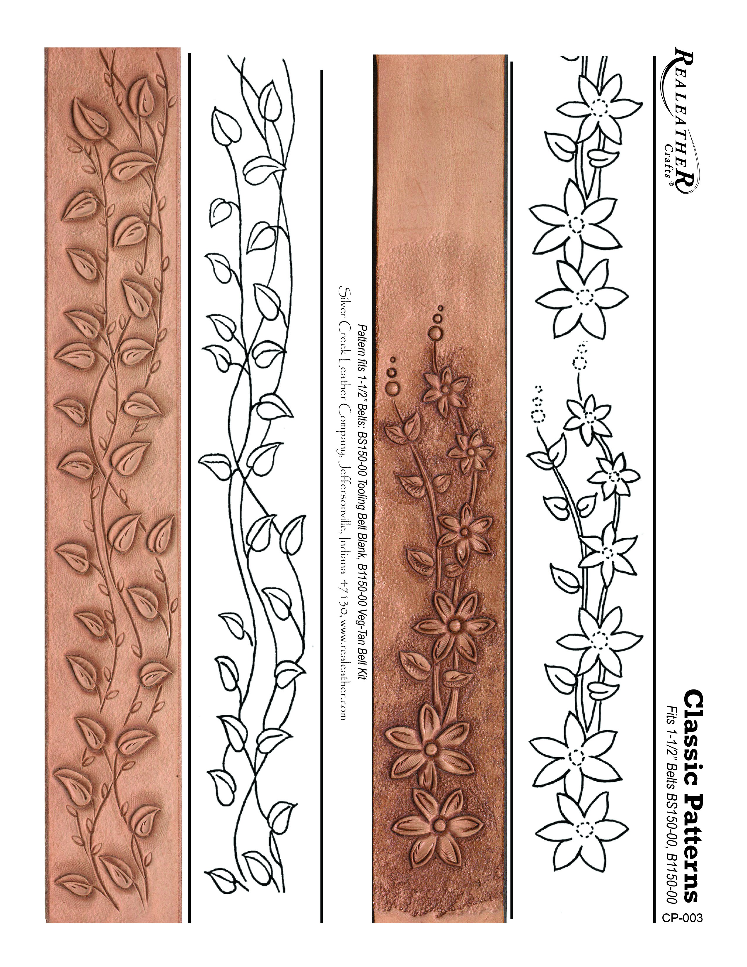 Free Printable Leather Tooling Patterns - Printable And Coloring - Free Printable Leather Belt Tooling Patterns