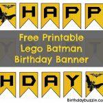Free Printable Lego Batman Birthday Banner | Bat Birthday | Lego   Free Printable Lego Batman