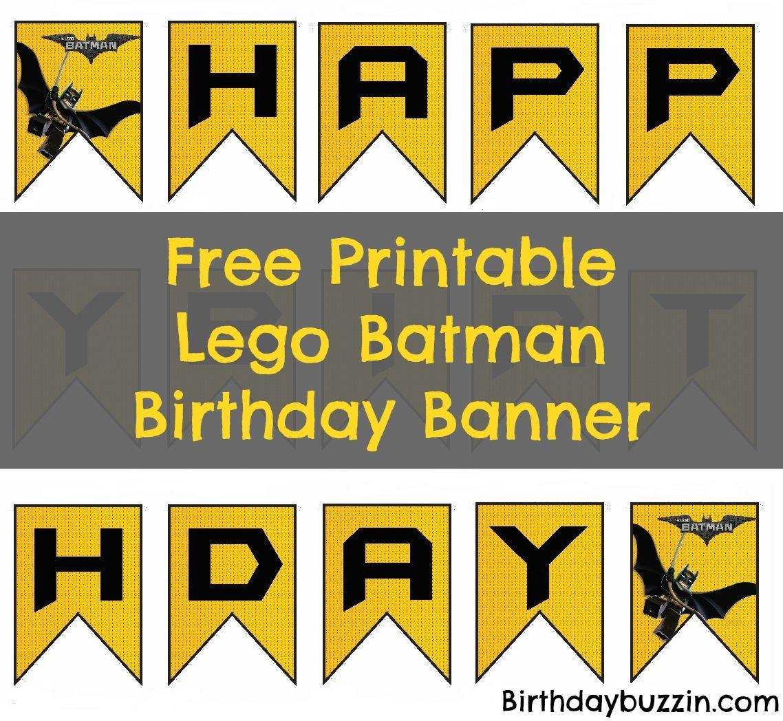 Free Printable Lego Batman Birthday Banner | Bat Birthday | Lego - Free Printable Lego Batman
