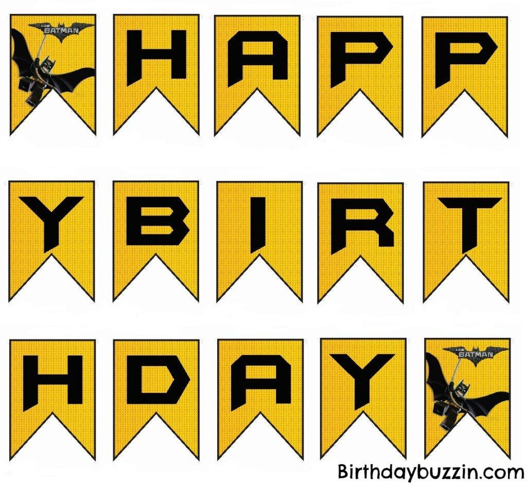 Free Printable Lego Batman Birthday Banner | Projects To Try | Lego - Free Printable Lego Banner
