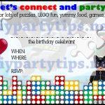 Free Printable: Lego Party Invitation – Lola's Diy Party Tips   Transformers Party Invitations Free Printable