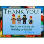 Free Printable Lego Thank You Notes | Lego Thank You Greeting Cards   Free Printable Minecraft Thank You Notes