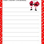 Free Printable Letter From Santa Template Download   Free Santa Templates Printable