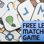 Free Printable Letter Matching Game   Simply Kinder   Free Printable Alphabet Games