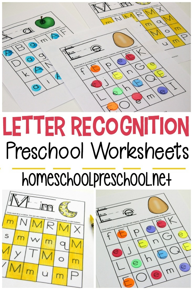 Free Printable Letter Recognition Worksheets For Preschoolers - Free Printable Alphabet Activities For Preschoolers
