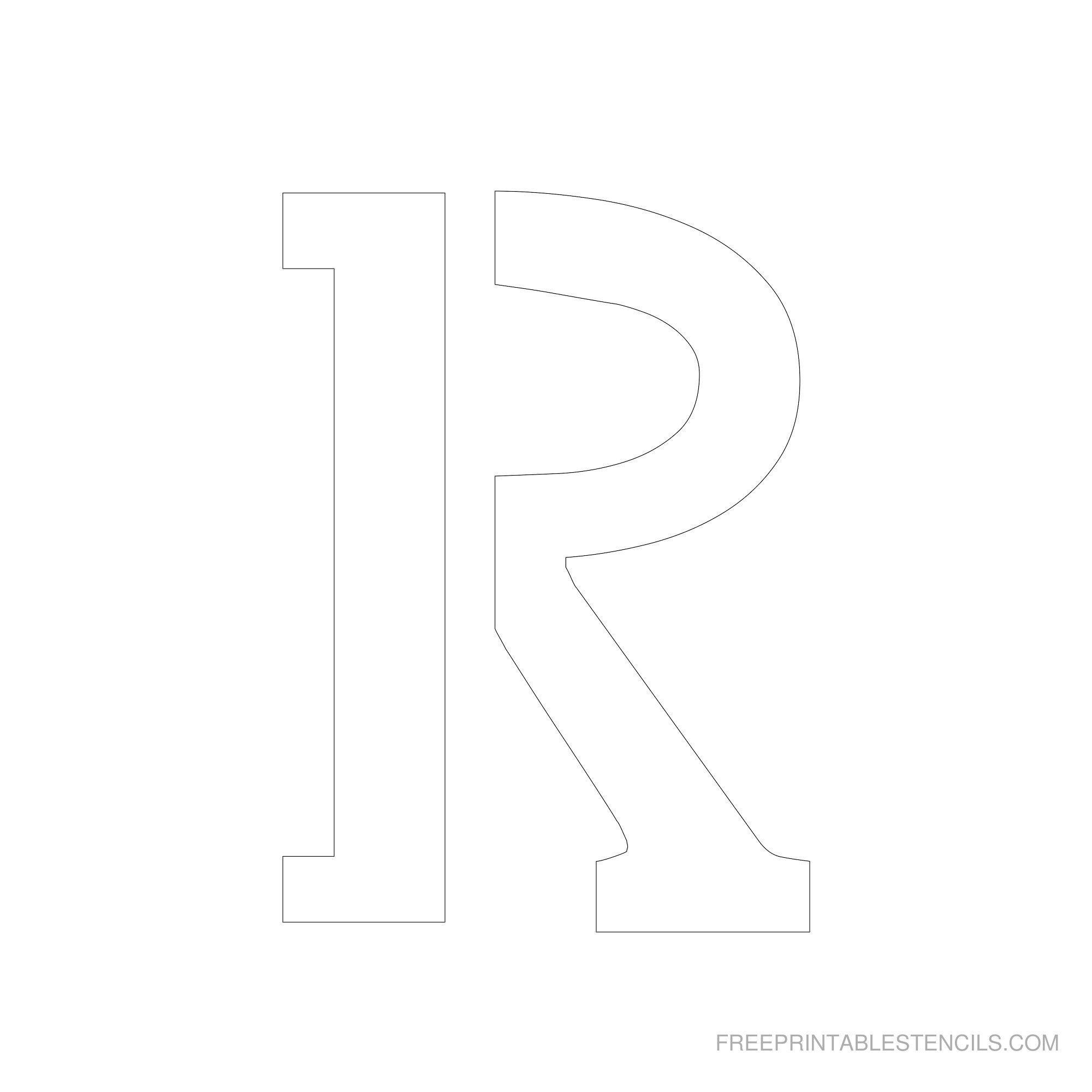 Free Printable Letter Stencils | Free Printable 6 Inch Alphabet - Free Printable Letter Stencils