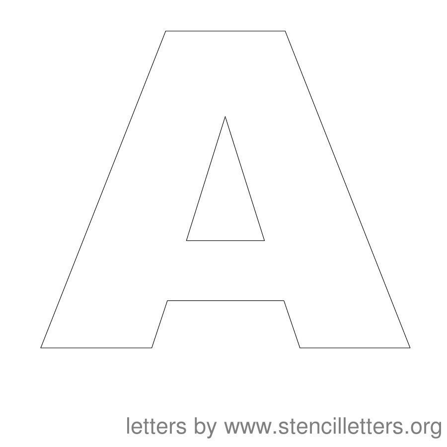 Free Printable Letter Stencils   Stencil Letters 12 Inch Uppercase - Free Printable 8 Inch Letters