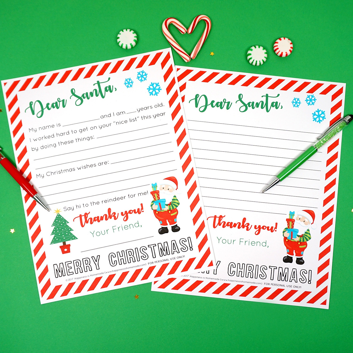 Free Printable Letter To Santa - Happiness Is Homemade - Free Printable Letters From Santa
