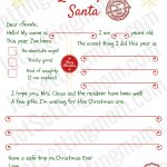 Free Printable Letter To Santa Template   Writing To Santa Made Easy!   Free Santa Templates Printable