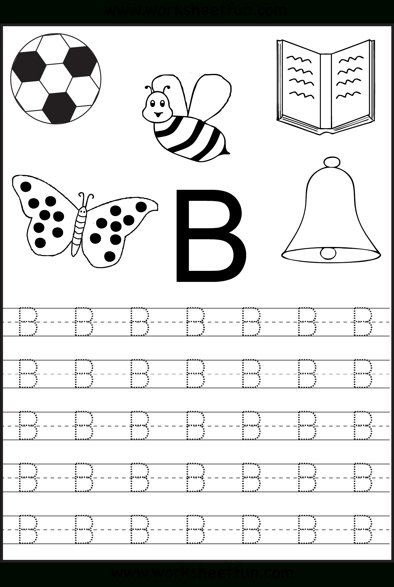 Free Printable Letter Tracing Worksheets For Kindergarten – 26 - Free Printable Letter Tracing