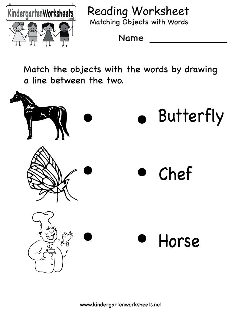 Free Printable Letter Worksheets Kindergarteners | Reading Worksheet - Free Printable Easy Readers For Kindergarten