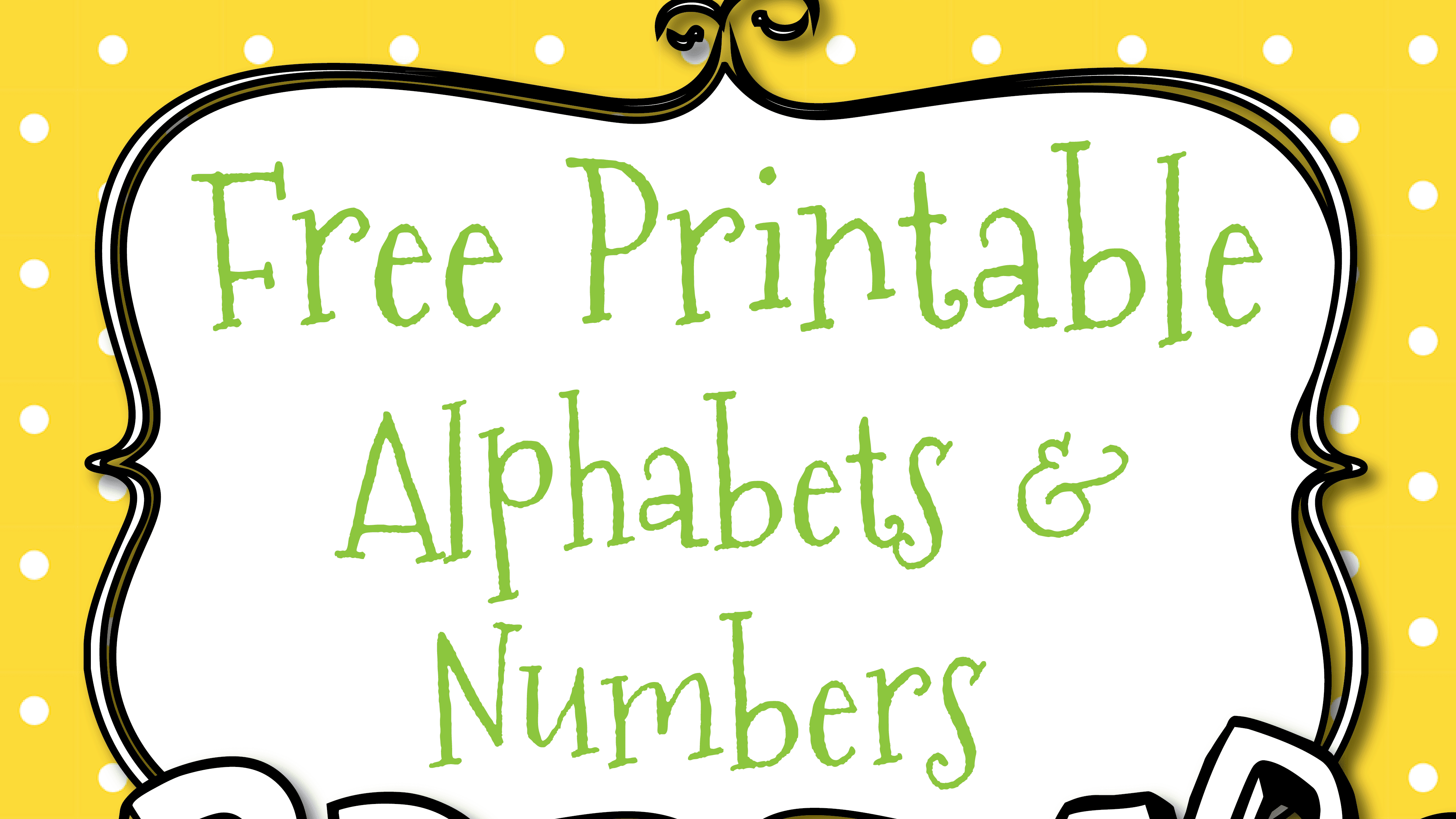 Free Printable Letters And Numbers For Crafts - Free Printable Letters Az