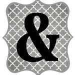 Free Printable Letters Gray And Black | Diy Swank   Free Printable Banner Letters Pdf