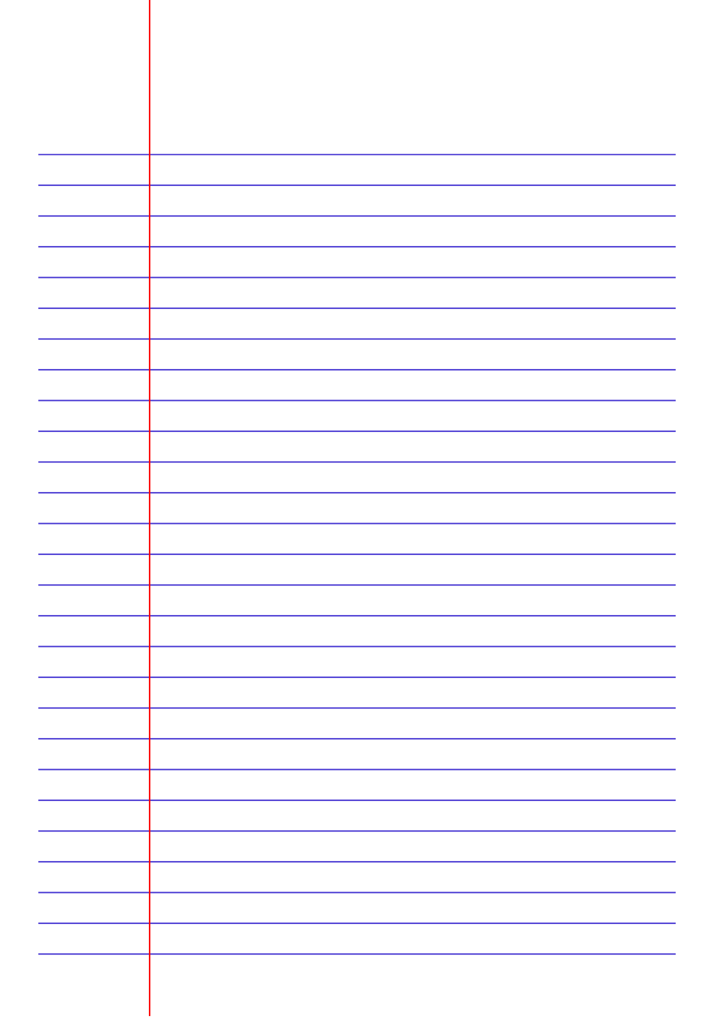 Printable Lined Paper - Jpg And Pdf Templates ...