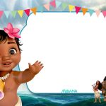 Free Printable Little Moana Birthday And Baby Shower   Moana   Free Printable Moana Birthday Cards