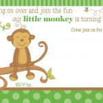 Free Printable Little Monkey Birthday Invitation | Free Printable   Jungle Theme Birthday Invitations Free Printable