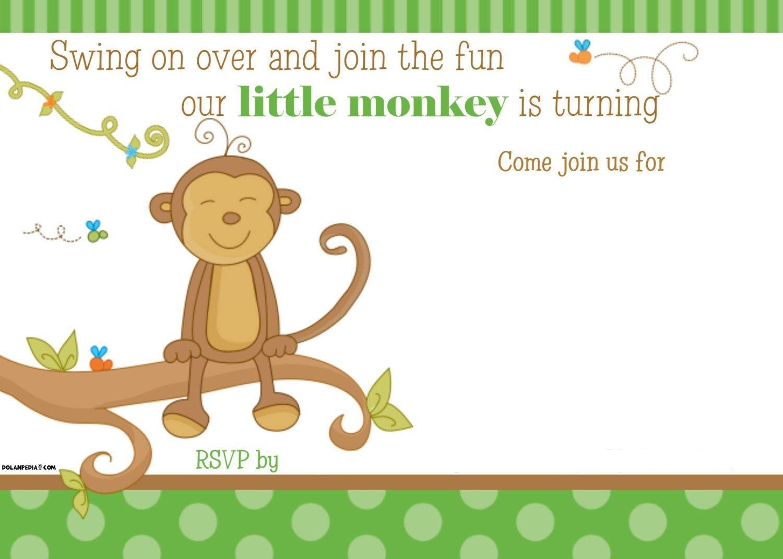 Free Printable Little Monkey Birthday Invitation | Free Printable - Jungle Theme Birthday Invitations Free Printable