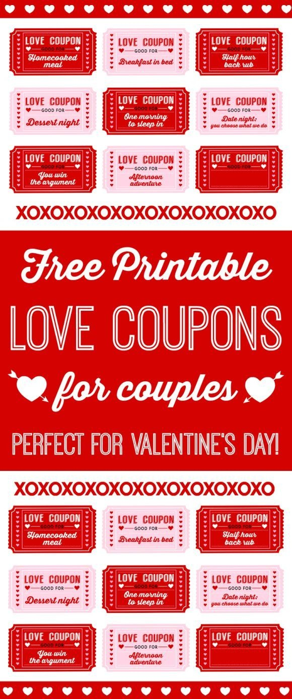 Free Printable Love Coupons For Couples On Valentine's Day! | Blog - Free Printable Valentines Day Coupons For Boyfriend
