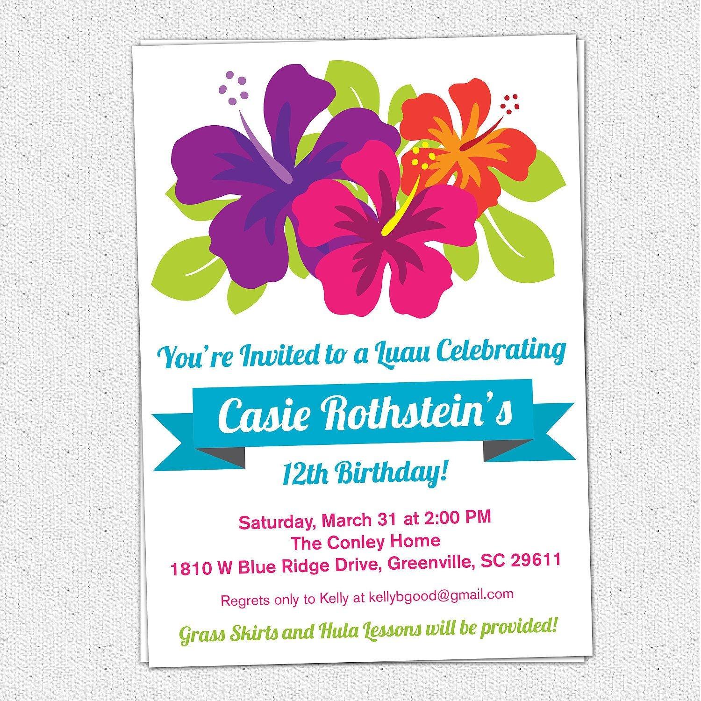 Free Printable Luau Birthday Invitations Templates   Elma In 2019 - Hawaiian Party Invitations Free Printable