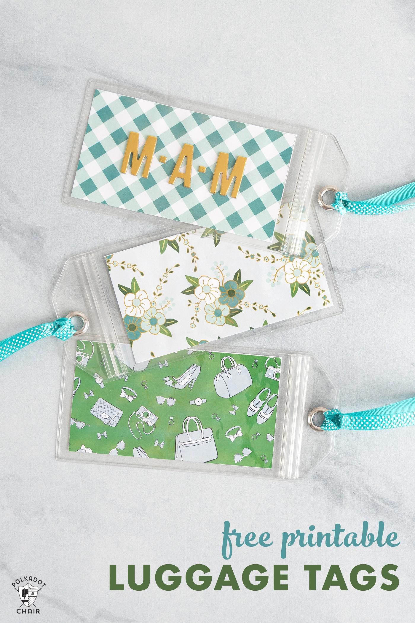 Free Printable Luggage Tags | The Polka Dot Chair - Free Printable Goodie Bag Tags