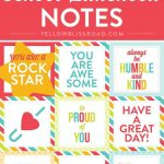 Free Printable Lunch Box Notes | Creative Diy And Crafts Exchange   Free Printable School Notes