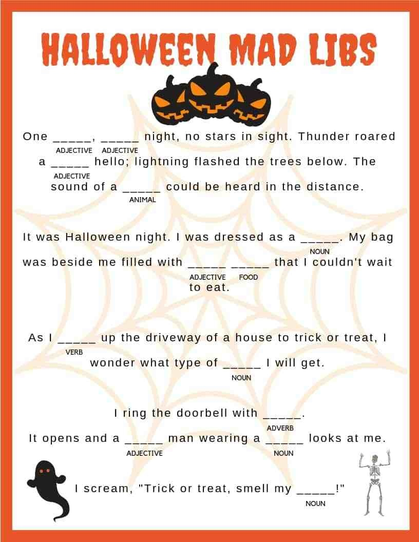 Free Printable Mad Libs For Kids (97+ Images In Collection) Page 1 - Free Printable Mad Libs For Tweens