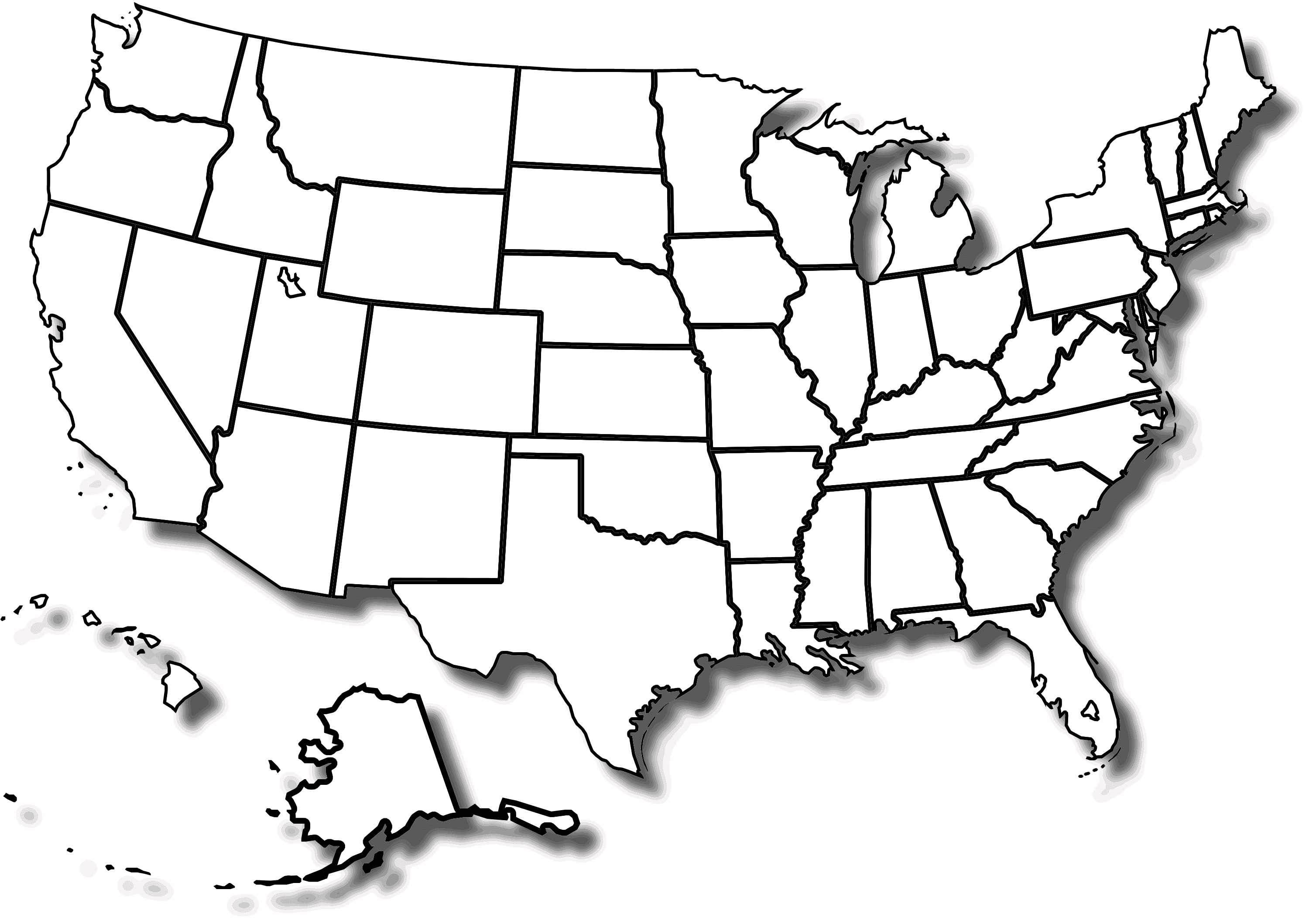 Free Printable Map Of The United States With State Names And Travel - Free Printable Blank Map Of The United States Of America