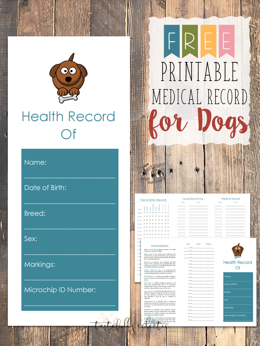 Free Printable Medical Record For Dogs   Craftiness   Whelping - Free Printable Pet Health Record