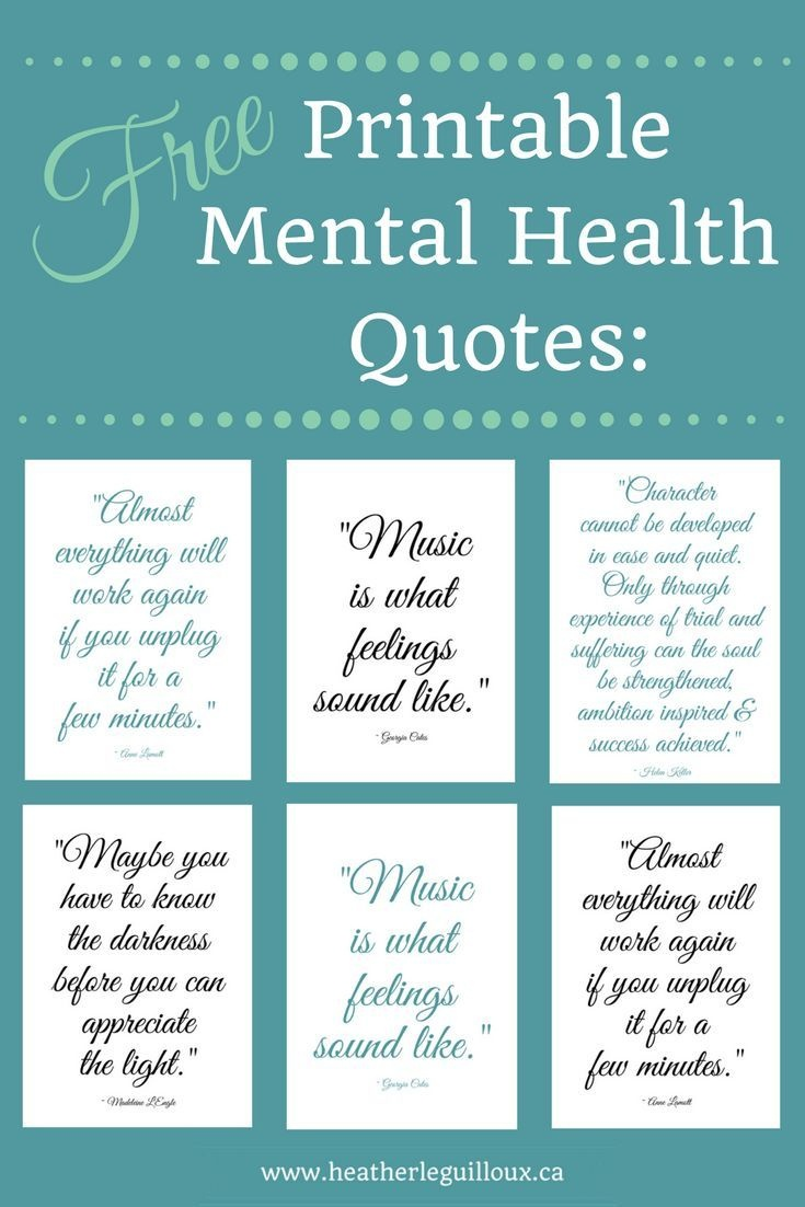 Free Printable Mental Health Quotes @hleguilloux Based On - Free Printable Quotes Pdf
