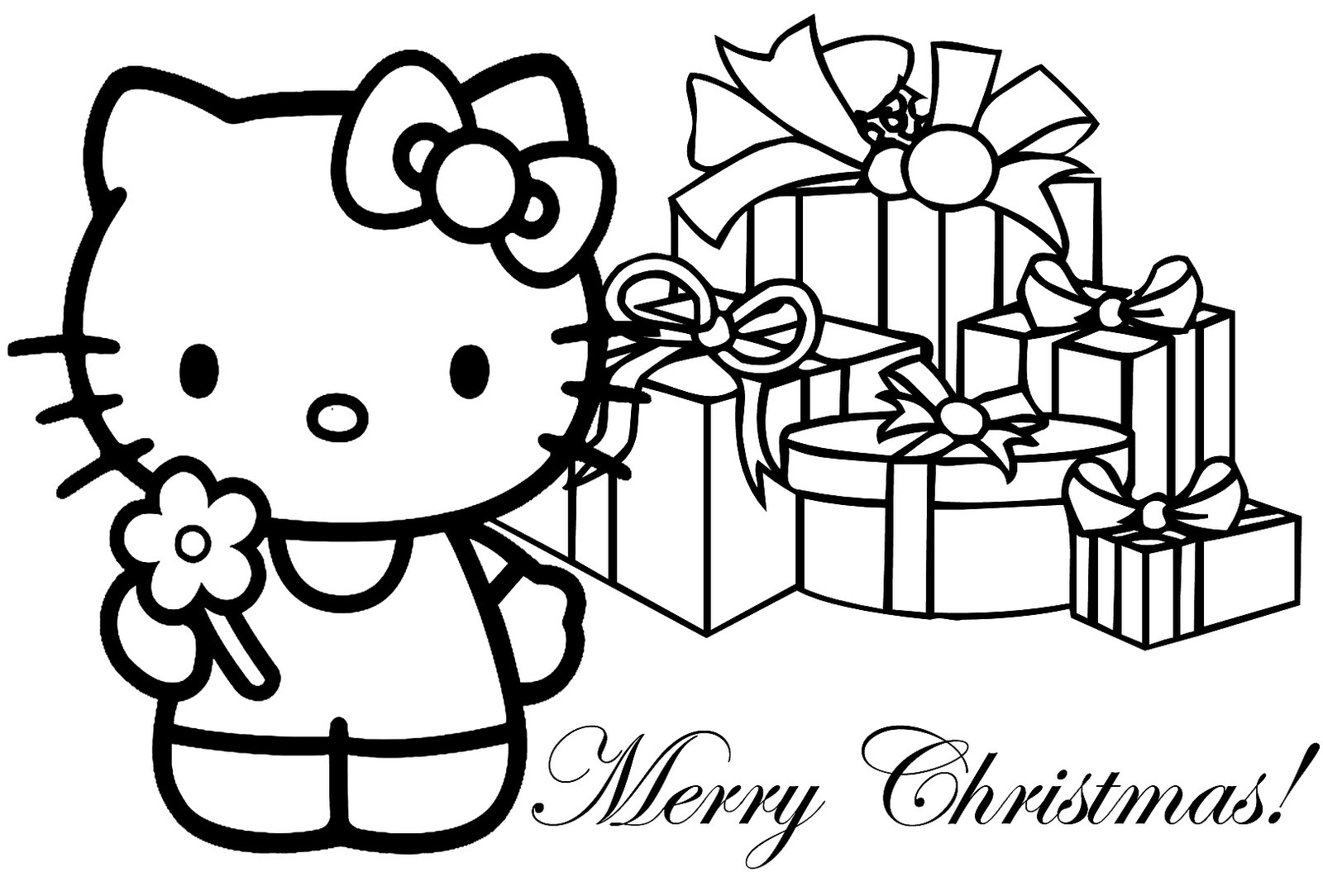 Free Printable Merry Christmas Coloring Pages - Christmas Pictures To Color Free Printable