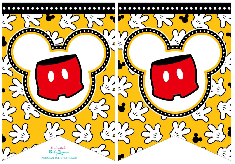 Free Printable Mickey Mouse Banner | Bannerpanda - Free Printable Mickey Mouse Birthday Banner