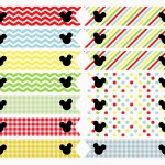 Free Printable: Mickey Mouse Clubhouse Inspired Straw Flags | Mickey   Mickey Mouse Clubhouse Free Printables
