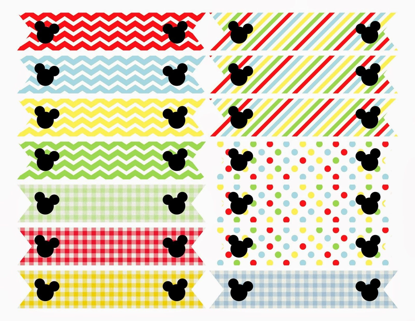Free Printable: Mickey Mouse Clubhouse Inspired Straw Flags | Mickey - Mickey Mouse Clubhouse Free Printables