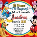 Free Printable Mickey Mouse Clubhouse Invitations Template | Baby   Mickey Mouse Clubhouse Free Printables