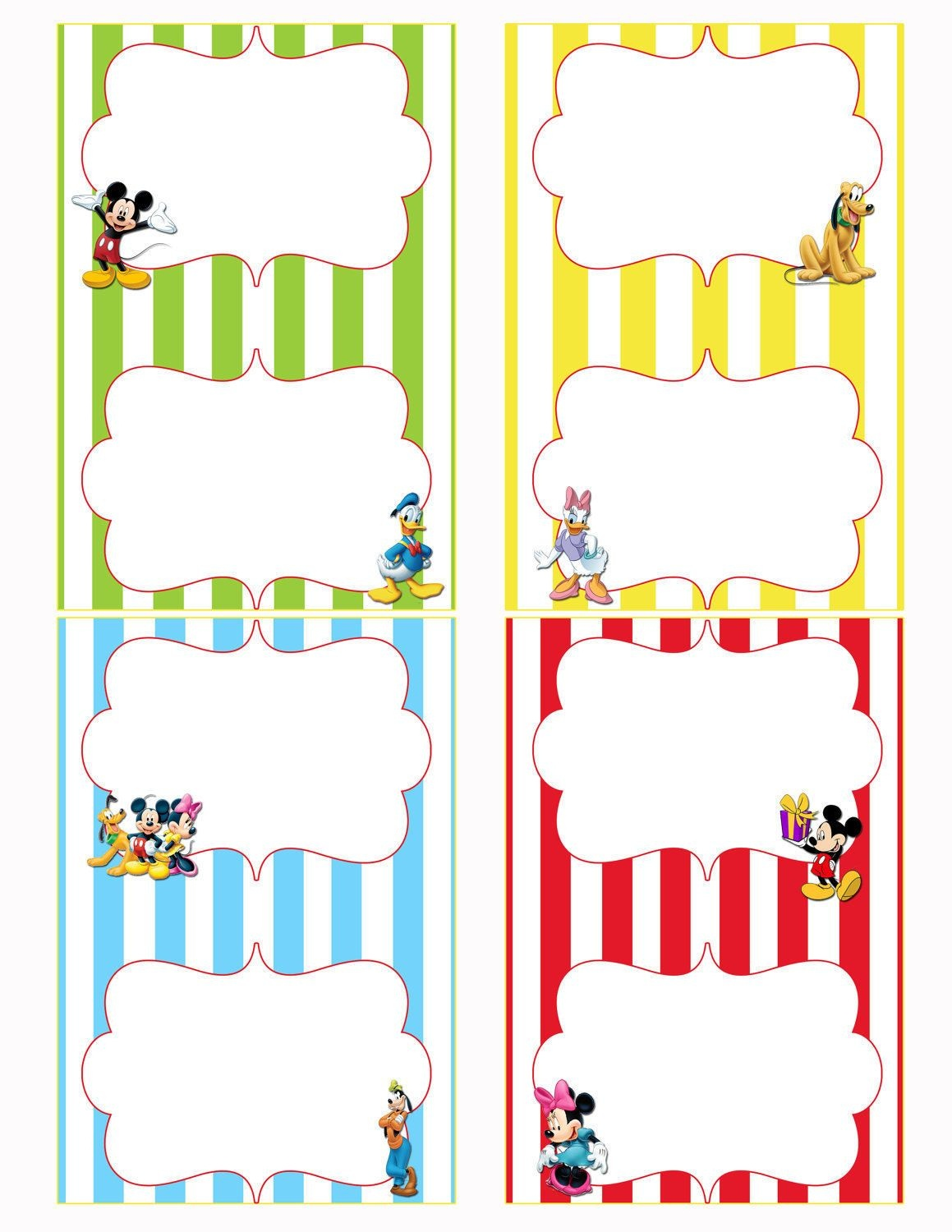 Free Printable Mickey Mouse Food Labels | Birthdays In 2019 | Mickey - Free Printable Mickey Mouse Favor Tags