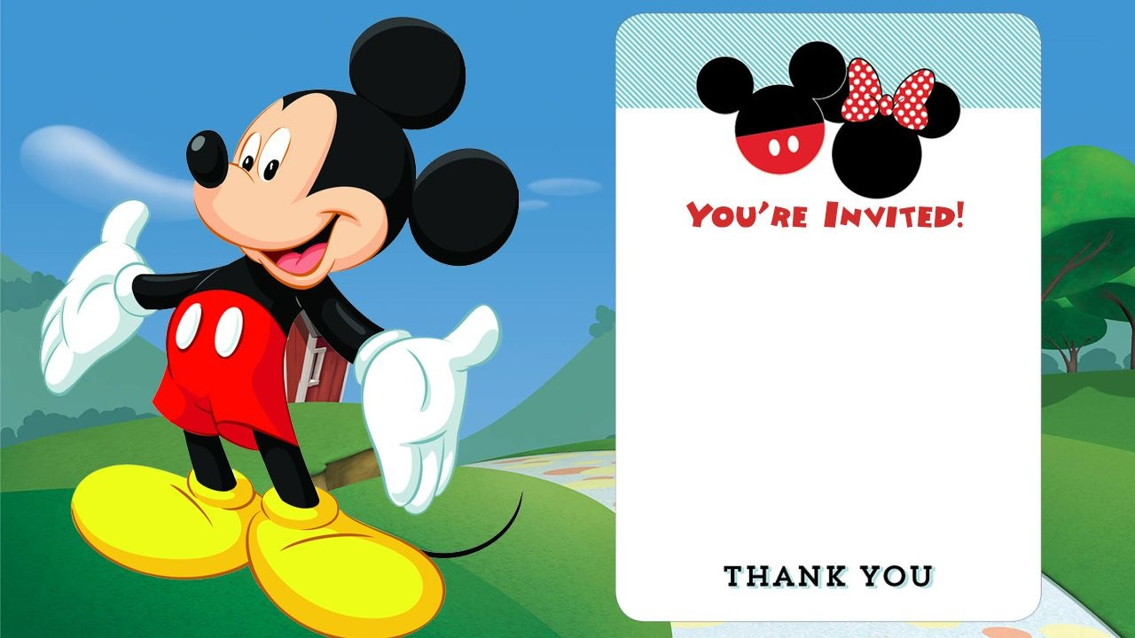 Free Printable Mickey Mouse Invitations - Exclusive | Free - Free Printable Mickey And Minnie Mouse Invitations