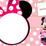 Free Printable Minnie Mouse Pinky Birthday Invitation Template   Free Minnie Mouse Printable Templates
