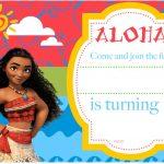 Free Printable Moana Birthday Invitation And Party   Free   Free Printable Moana Birthday Cards