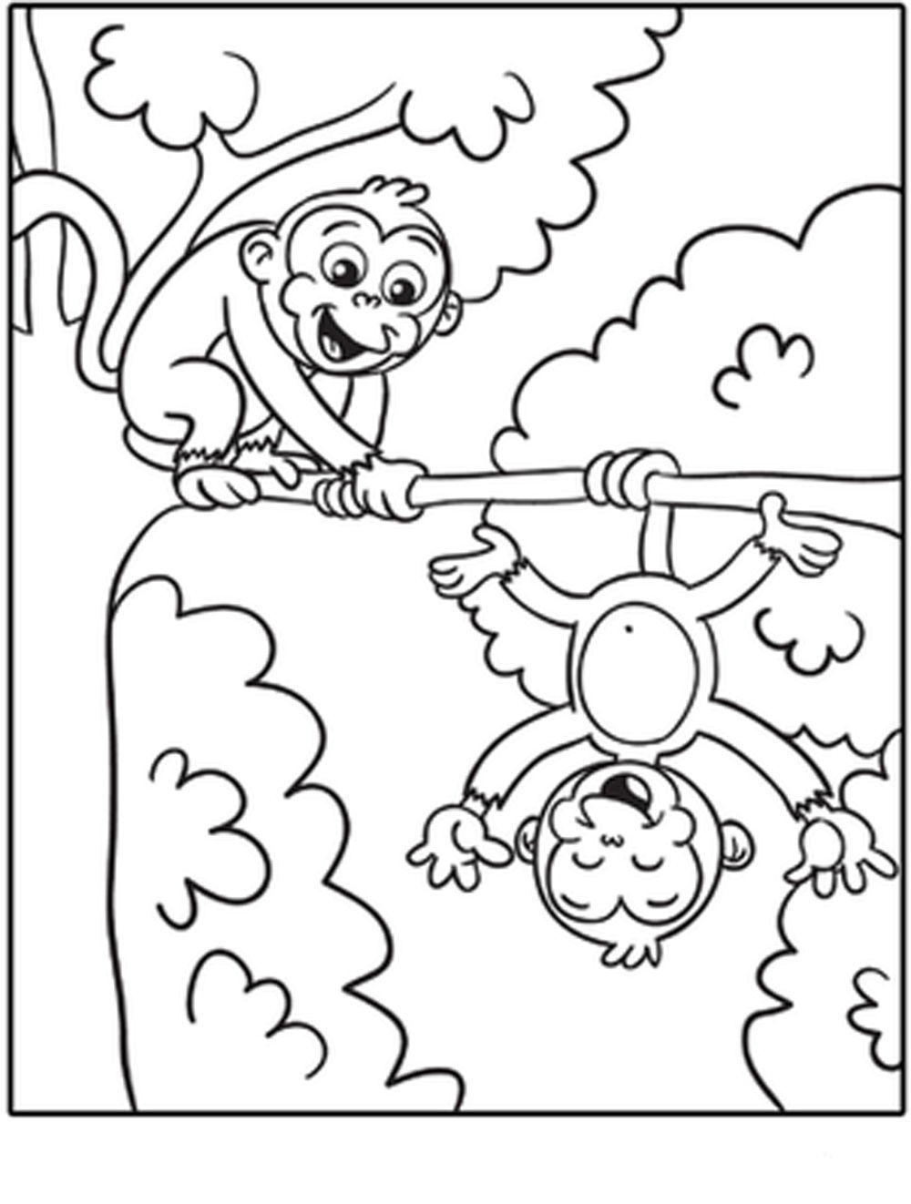 Free-Printable-Monkey-Coloring-Pages | | Bestappsforkids - Free Printable Monkey Coloring Pages
