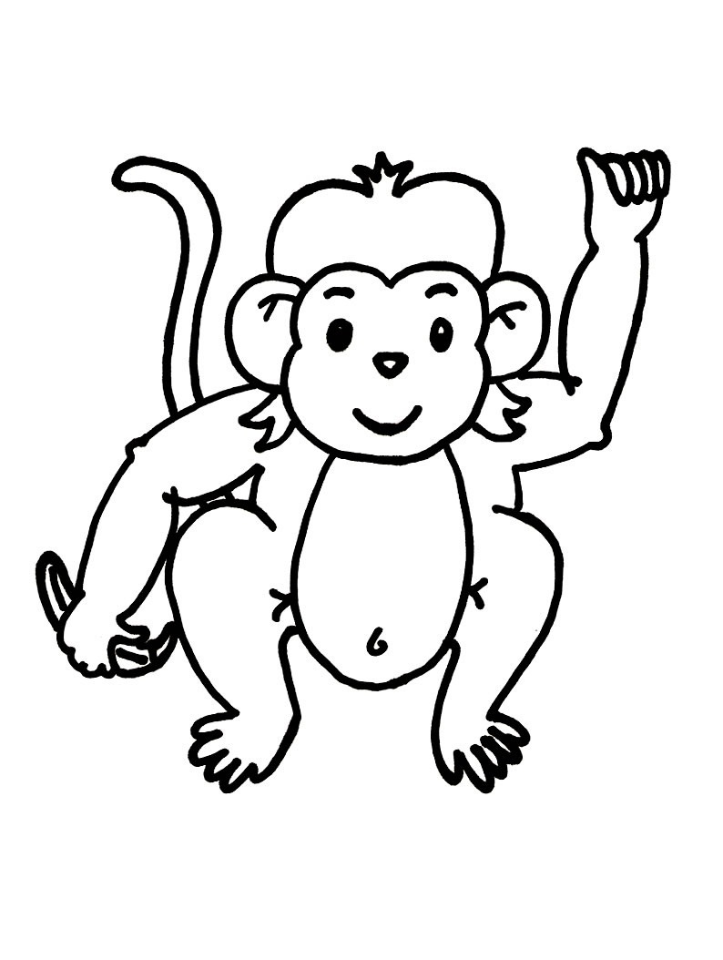 Free Printable Monkey Coloring Pages For Kids - Free Printable Monkey Coloring Pages