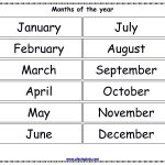 Free Printable Months Of The Year Chart | Alivia Learning Folder   Free Printable Months Of The Year