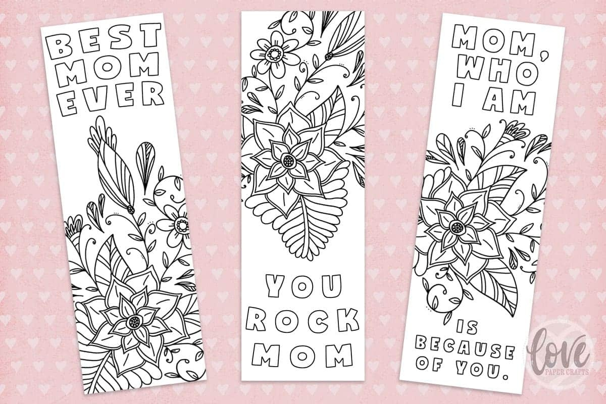 Free Printable Mothers Day Bookmark - Love Paper Crafts - Free Printable Mothers Day Crafts