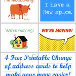 Free Printable Moving Announcement Change Of Address Card – Premier   Free Printable Moving Announcement Templates