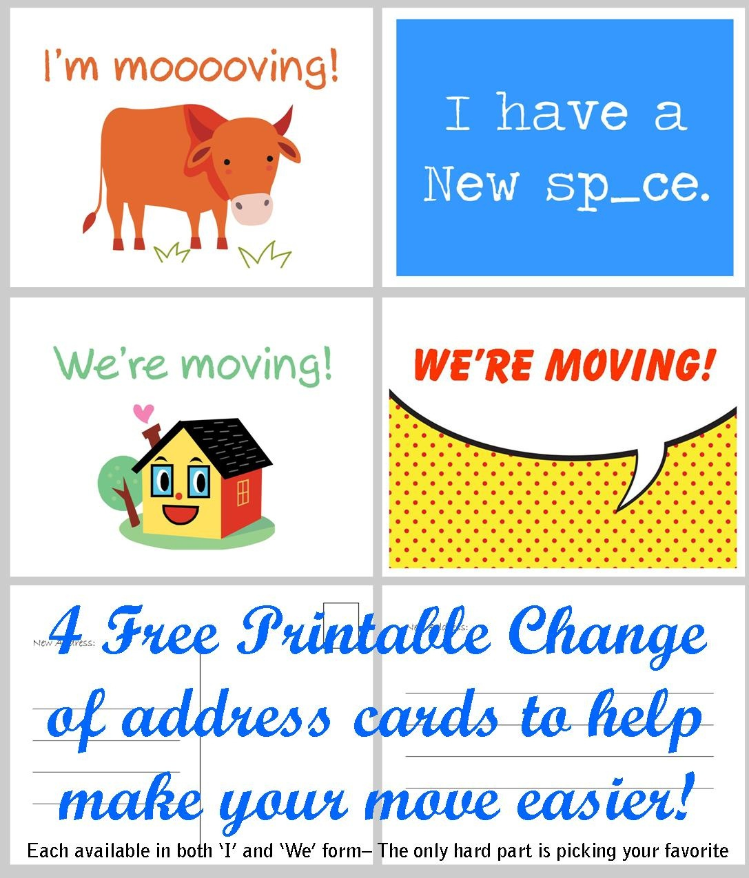 Free Printable Moving Announcement Change Of Address Card – Premier - We Re Moving Cards Free Printable
