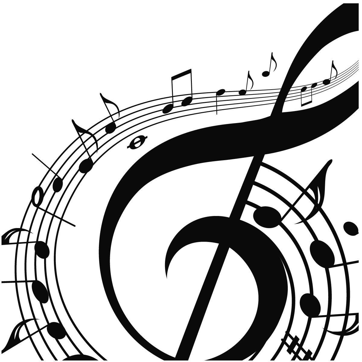 Free Printable Music Note Coloring Pages For Kids | Musical Clipart - Free Printable Pictures Of Music Notes