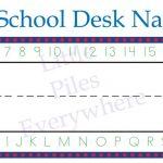 Free Printable Name Tags For Classroom Desks   Hostgarcia   Free Printable Name Tags For School Desks
